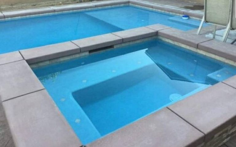 Geometric pool spa