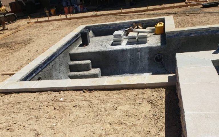 gunite pool being done by SilverRock Pools