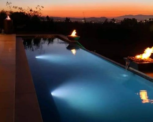 finish of a new construction swimming pool in apple valley ca