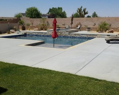 finish product of a new construction pool