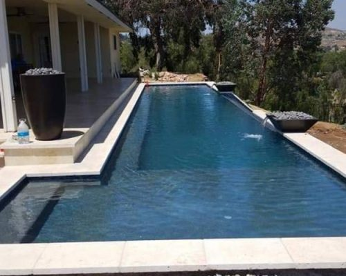 new contemporary pool design by SilverRock Pools