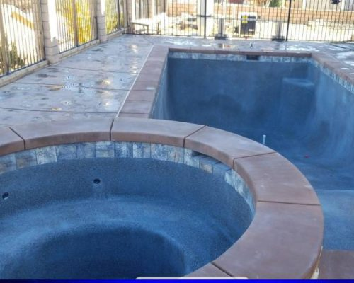 small swimming pool under construction